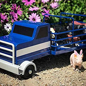 Little Buster Toys Cattle Truck in Blue, 1/16th Scale (Color: Blue, Tamaño: One Size)