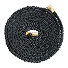 NEW AND IMPROVED Xhose PRO The Original Expanding Hose, Black with Solid Brass Fittings, 50-Feet