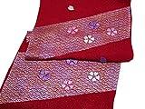 振袖用 正絹 さくら刺繍入り 帯揚げ 5レッド