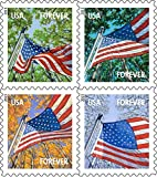 USPS Forever Postage Stamps (A Flag for All Seasons Self-Adhesive Booklet of 20)