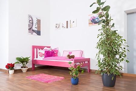 """Lit d'enfants / d'adolescents """"Easy Sleep®"""" K8, en bois d'hêtre massif laqué en rose pâle"""