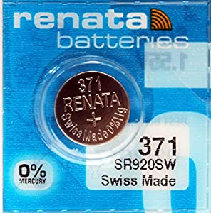Renata 371 Mercury Free 1.55v Silver Oxide Watch battery(SR920SW)