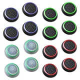 Fosmon Analog Stick Joystick Controller Performance Thumb Grips for PS4, PS3, Xbox One, Xbox 360, Wii U - Assorted (8 Pairs) (Color: 01 - Xbox 360 PS4 Wii U - Set of 16)