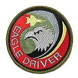 自衛隊グッズ ワッペン 航空自衛隊 F-15 EAGLE DRIVER パッチ ベルクロ付 サブデュード.ver