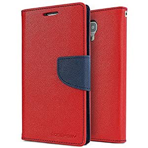 N3Pow'r Korean Original Mercury Flip Cover or Diary Cover for Samsung Galaxy S5 - Red Blue