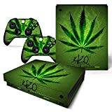 FriendlyTomato Xbox One X Console and Wireless Controller Skin Set - Weed 420 - XboxOne X XOX Sticker Vinyl