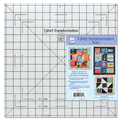Find Bargain June Tailor T-Shirt Transformation Ruler, 15-1/2 by 15-1/2-Inch
