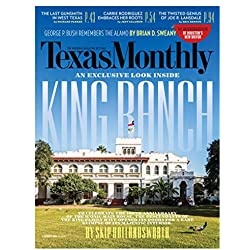 1-Year (12 Issues) of Texas Monthly Magazine