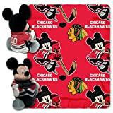 NHL Chicago Blackhawks Ice Warriors 40x50-Inch Throw with 14-Inch Hugger