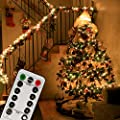 100/200 LED Indoor String Light with Remote and Timer on 69ft Clear String (8 Modes, Dimmable, Low Voltage Plug, Warm White)