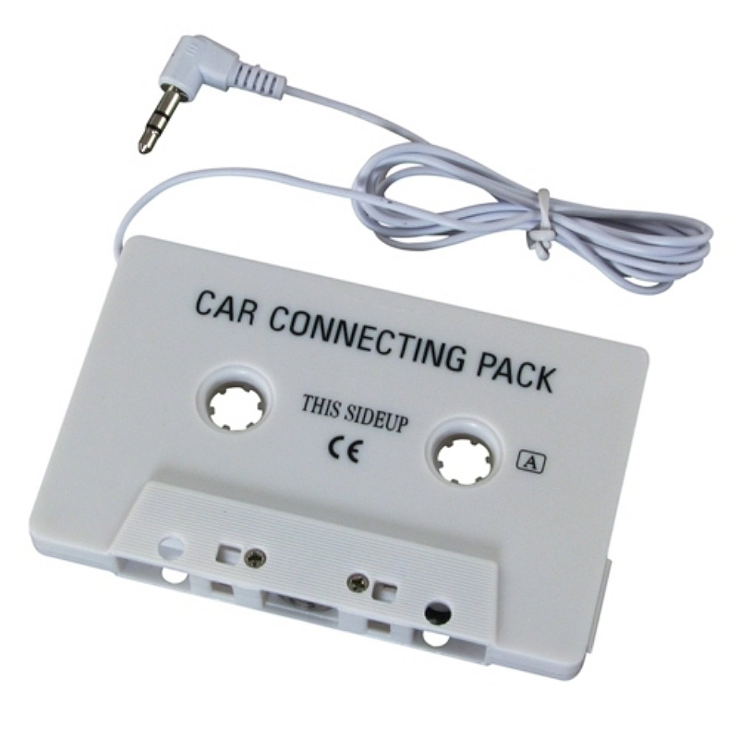 Car Audio Tape Cassette Adapter for MP3 Players car cassette tape adapter transmitters for mp3 cd dvd player white 3 5mm plug