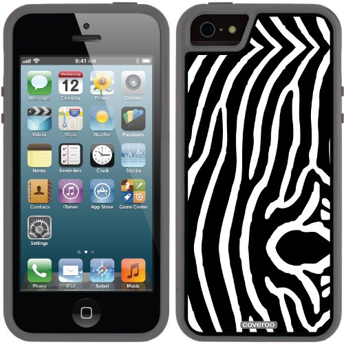 Great Price Zebra Vertical Black design on a Black iPhone 5s / 5 Guardian / Ruggedized Case by Coveroo