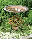 Ancient Graffiti Copper Plated Steel Bird Bath