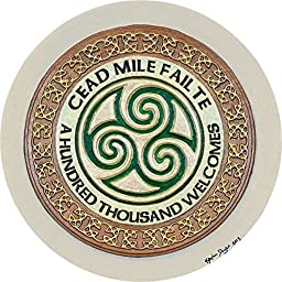 Cead Mile Failte - Cast Paper - Celtic Irish home blessing - Celtic art - Scottish - one hundred thousand welcomes - entry hall greeting - housewarming gift - unique realtor closing gift - wall art decor