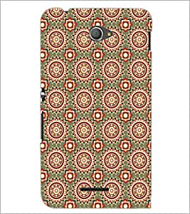 PrintDhaba Pattern D-5458 Back Case Cover for SONY XPERIA E4 (Multi-Coloured)