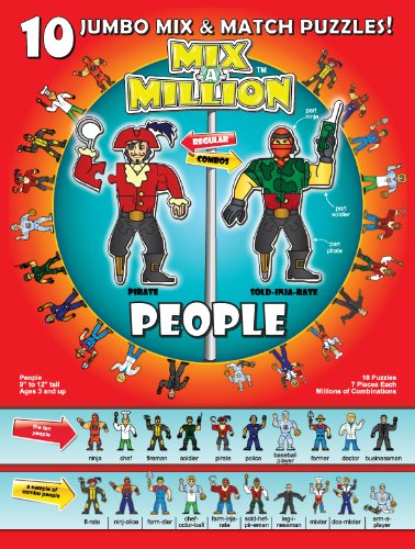 People Mix-A-Million 10 Jumbo Mix and Match Puzzles
