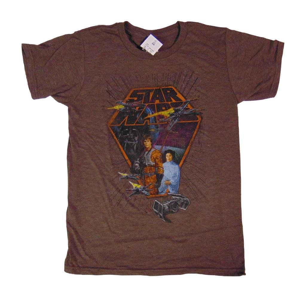 StarWars Vintage design Shirt Brown Heather 0