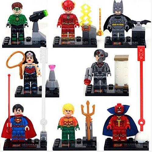 LipstickIndy® 2016 Brand New Batman v Superman Dawn Woderwoman Minifigure Superhero Action Figure with weapons