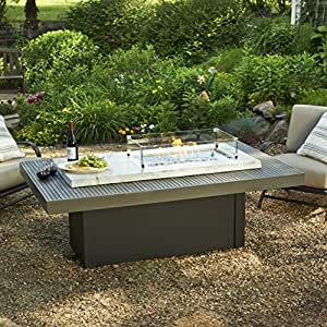 outdoor great room crystal fire coffee table