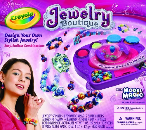 Lets Kids Design & Make Their Own Fashion - Crayola Model Magic Jewelry Studio