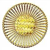 Wedding Gift Basket,Packaging Basket,Golden Basket,Fruit Packing Basket,Chocolate Gifting Basket(Size :- Inch 8.75*8.75*2)