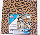 The Board Dudes Canvas Style Designer Cork Board Leopard Animal Print