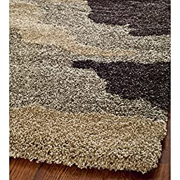 Safavieh Camouflage Shag Collection SG453-1391 Beige and Multi Area Rug, 4 feet by 6 feet (4\' x 6\')