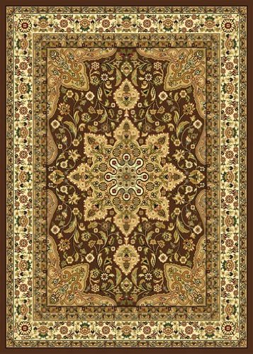 Home Dynamix Royalty 8083-500 Brown 5-Feet 2-Inch by 7-Feet 2-Inch Traditional Area Rug