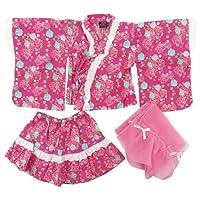 盛夏 Dolly Ribbon(ドーリーリボン) ベビー女児浴衣ドレス3点セット 90cm/ローズピンク NO.BR-148800