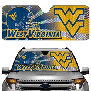 Buy NCAA West Virginia Mountaineers Auto Sun Shade by Team ProMark