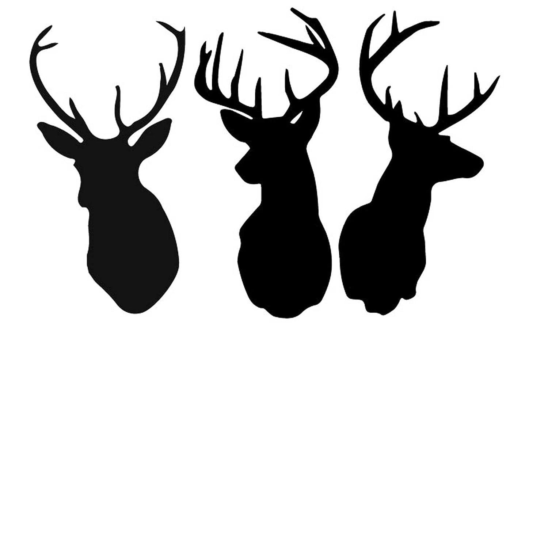 free deer head silhouette clip art - photo #8