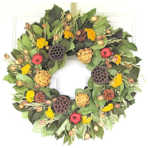 PNDs-Handcrafted-Naturally-Dried-Organic-Floral-Wreaths-Pomegranate-Artichokes-Wreath