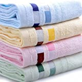 "Moolecole® High Quality Bamboo Towels Face Towels Hand Towels for Bathroom Towels Sets 12""x26""(30cmx66cm) (2 Yellow)"