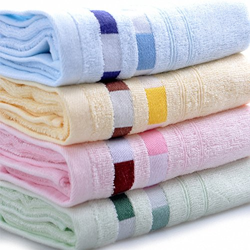 "Moolecole® High Quality Bamboo Towels Face Towels Hand Towels For Bathroom Towels Sets 12""X26""(30Cmx66Cm) (2, Yellow)"