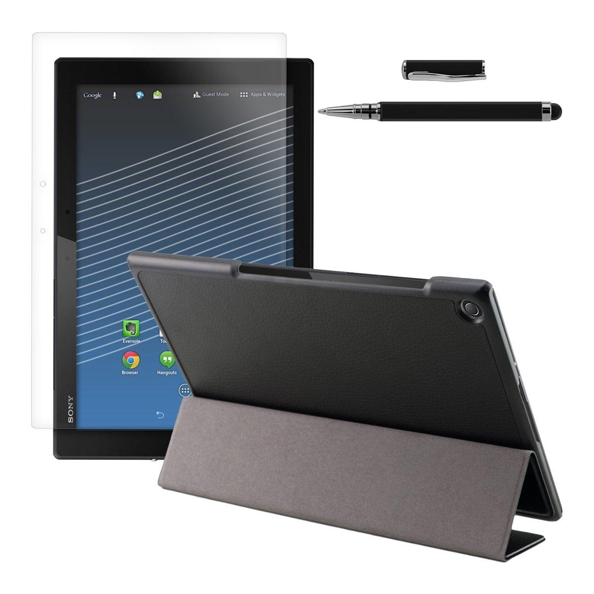 kwmobile® 3en1Slim Smart Cover Funda Carcasas para Sony Xperia Tablet Z2 en Negro + Lámina, transparente + Stylus, Negro  Electrónica Comentarios y descripción más