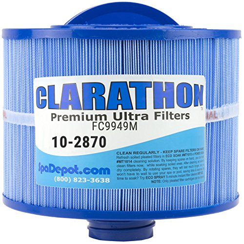 Replacement Filter for 2013+ Bullfrog Spa - 10-2870 Antimicrobial with Longer Threaded Fitting (Bullfrog Spa Filter compare prices)