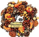 大橋新治商店 ハロウィンリース Halloween ブラウン 30cm 28-079