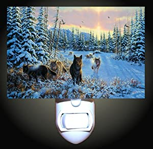 Hunting Wolves Decorative Night Light