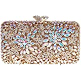Fawziya® Flower Clutch Purse Luxury Women Crystal Evening Clutch Bags