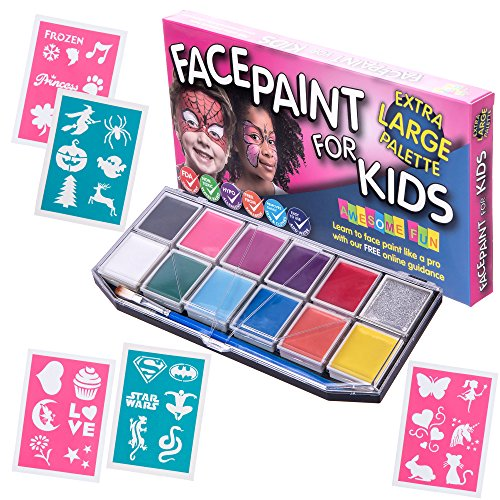 face-paint-kit-with-30-stencils-xx-large-best-quality-face-painting-set-for-kids-12-colors-glitter-g