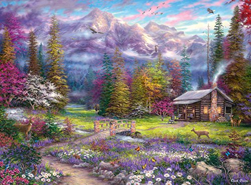 Buffalo Games Inspirations of Spring by Chuck Pinson Jigsaw Puzzle (1000 Piece) (Nature Puzzle 1000 compare prices)