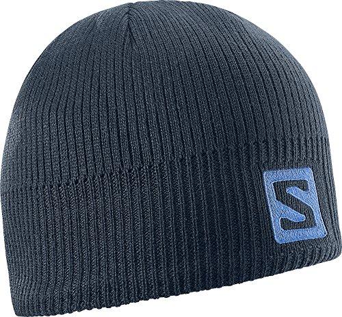 Salomon L36685000 Cappello Unisex, Per sport invernali, Logo Beanie, Blu scuro