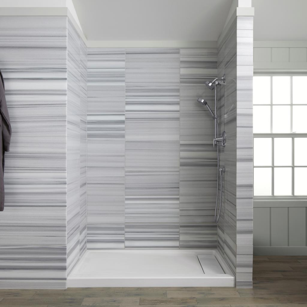 Enameled Cast Iron Shower Base Gives A Sleek Look To Any Bathroom