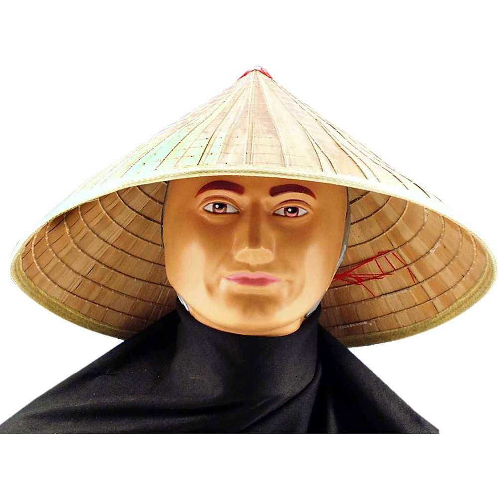 Coolie Hat: Chinese Straw Bell Coolie Comical Amish Accessory Sun