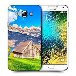 Snoogg Wood House Printed Protective Phone Back Case Cover ForSamsung Galaxy E7