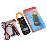 Kongqiabona ANENG DT3266L Digital Clamp Ammeter AC DC Ammeter Multimeter Voltmeter 400A Electronic Clamp Meter Diode Fire Wire Tester (Color: Black)