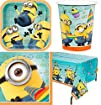 Despicable Me 2 Party Supplies Pack Including Plates Cups