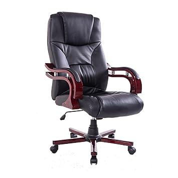 Homcom Pu Leather Wood High Back Executive Office Chair Black Super Cheap Dhzfxwzx 18