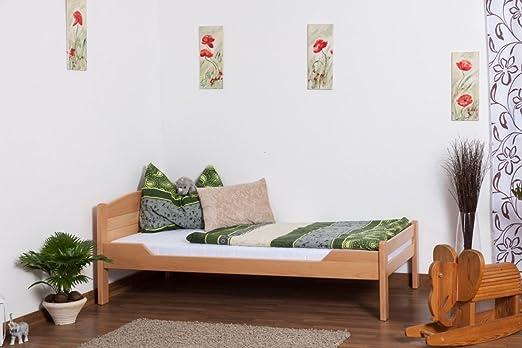 """Tagesbett / Gästebett """"Easy Sleep"""" K1/ Voll, 90 x 200 Buche Vollholz massiv Natur"""