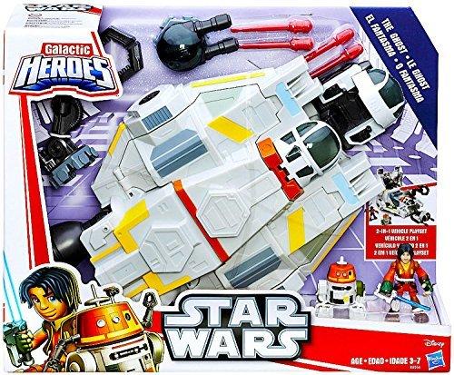 Playskool Star Wars Rebels Galactic Heroes The Ghost Ship with Ezra Bridgers & C1-10P